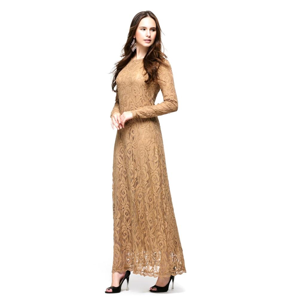 Aliexpress.com : Buy Vintage Style Lady Women Wear Lace Long ...