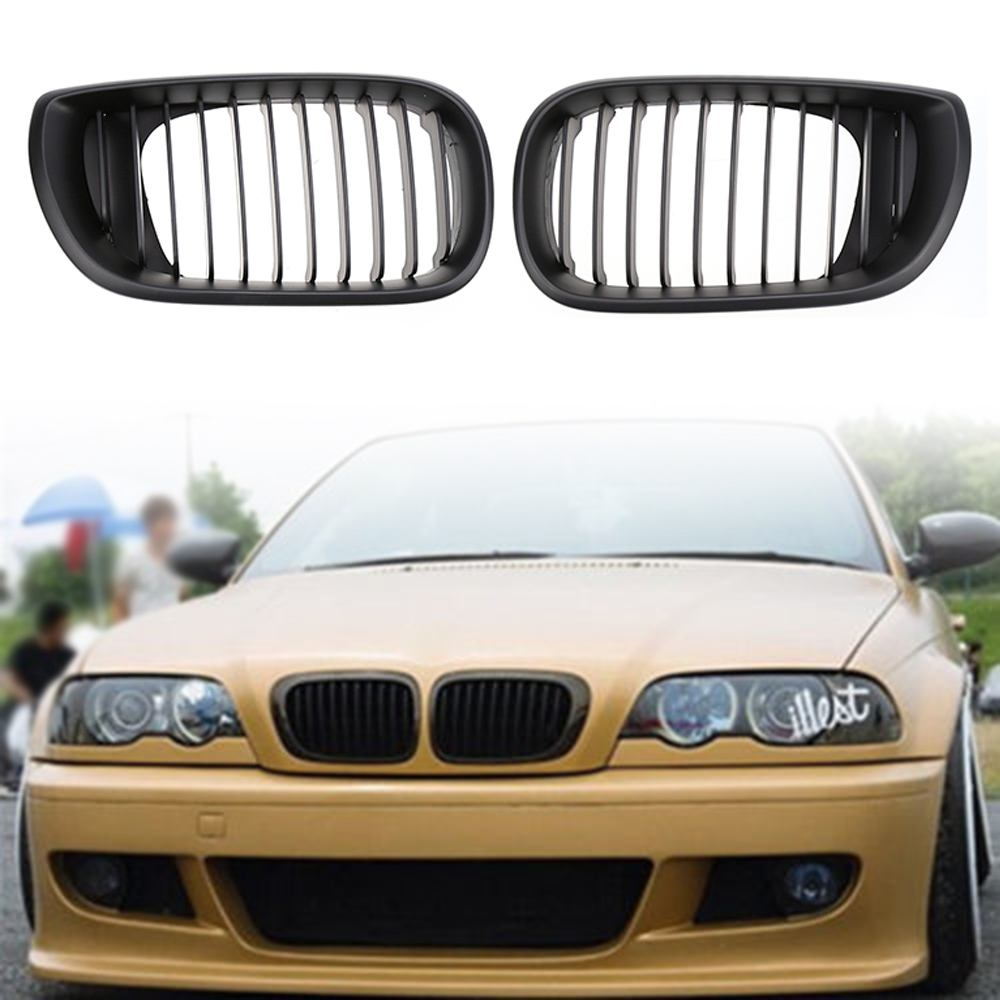 Hot Sale 1 Pair Plated Chrome Black Front Grille Grilles