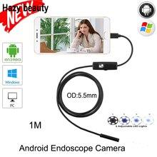 Здесь можно купить  Hazy beauty 5.5mm MircoUSB Android OTG USB Endoscope Camera 1M  Waterproof Snake Pipe Inspection Android USB Borescope Camera