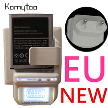 Universal EU Plug Travel LCD Battery Charger For Samsung Sony HTC Nokia LG USB W