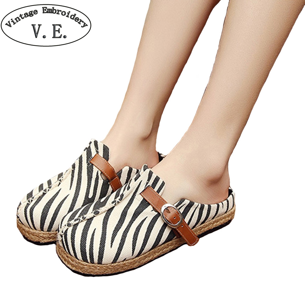 75 Cool Foot And Flip Flop Tattoos: Women's Cotton Sandals Stripe Style Vintage Espadrilles