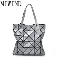 Women Shoulder Bags Laser Geometric Designer Handbags Tote Fold Summer Diamond High Quality Messenger Bag Hand