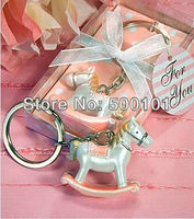 20pcs Lot Party Wedding Children Gift Favors Valentine S Rocking Horse Key Chain Keychain Pink Wk001