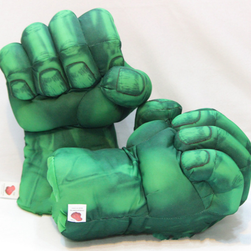 1Pair (2st) Hulk Fist Handskar Doll Boxer Movie Doll Hulk Såga Hand Spider-Man Thing Handskar Doll Leksaker Julklappar