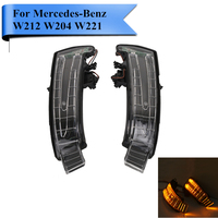 2x LED Rearview Side Mirror Indicator Turn Signal Light For Mercedes Benz MB W204 C200 W212