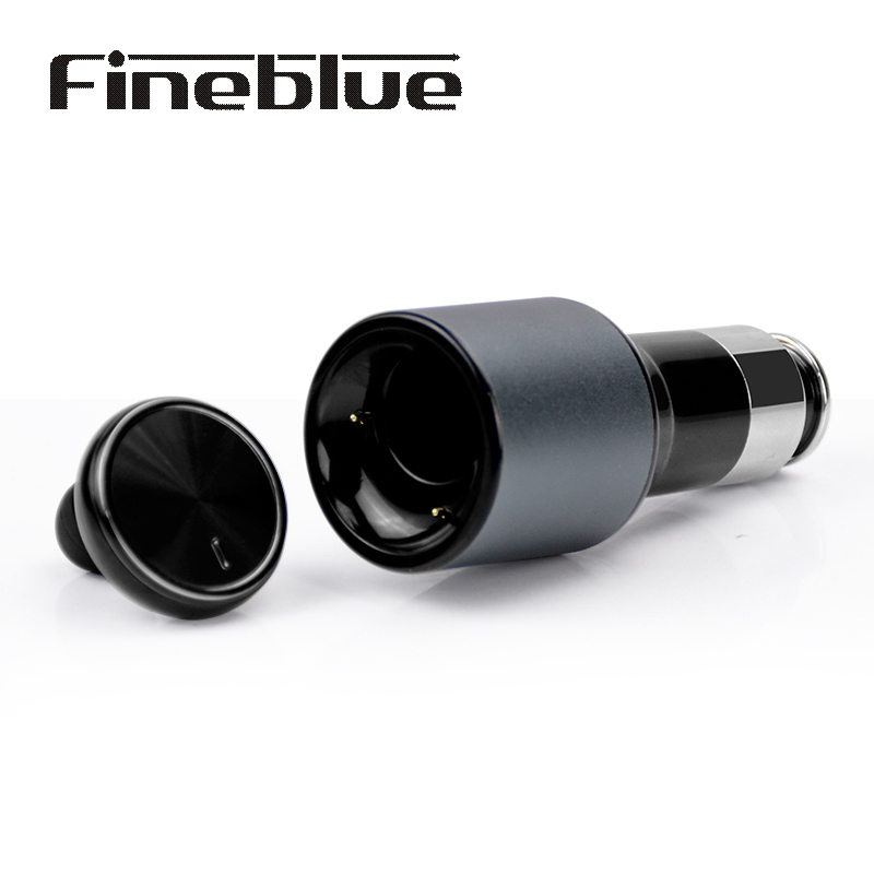 Fineblue F-458 2 In 1 Mini Wireless Bluetooth Earbud USB Car Charger Adapter Stealth Headset Driver Earphones Fone with Mic Kit mini car charger usb interface wireless bluetooth earphone headset 2 in 1 fast car phone charger cx88
