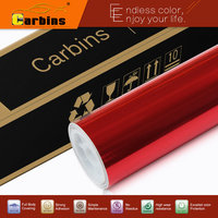 Red Stretchable Import Chrome Vinyl Wrapping Film 1 52 20m