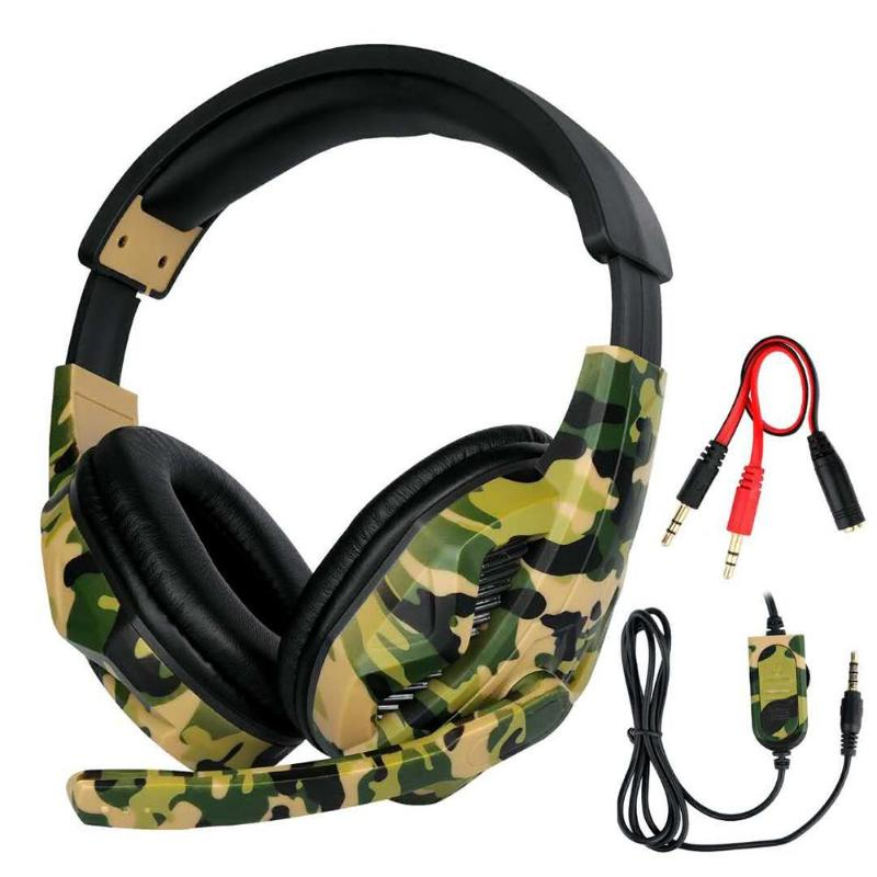 Gaming Earphone HiFi Gaming Headset Earphone Gaming Headset Camouflage Headphones With Microphone For PS4 Xbox One