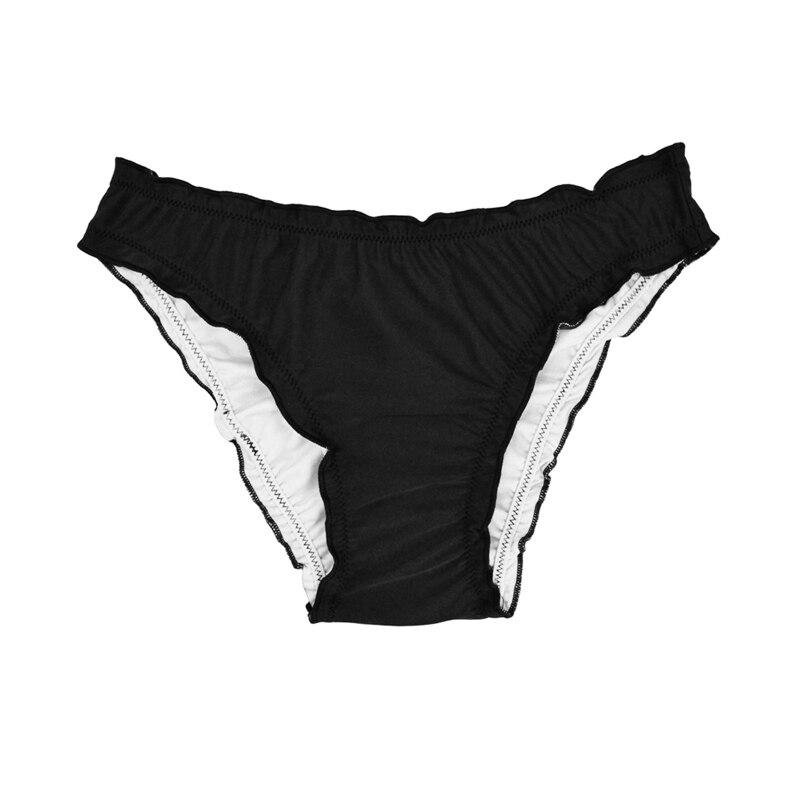 Женский купальник с низкой талией бикини снизу микро Chiffons печати двух частей отделяет плавки сексуальные купальник женский летний B607 - Цвет: B607R