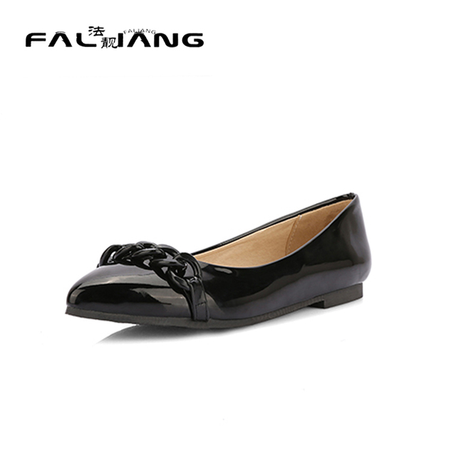 huge inventory factory price 100% high quality Womens Loafers Casual Pointed Toe Shallow Slip On Womens Shoes Size 11 12  Comfort Pointed Toe Flats -in Women's Flats from Shoes on Aliexpress.com    ...