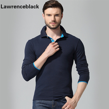 Polo Men Cotton Anti-Wrinkle 2017 New Brand Mens Designer Polos Hombre Casual Long Sleeve Solid Polo Shirts Homme Plus Size 33