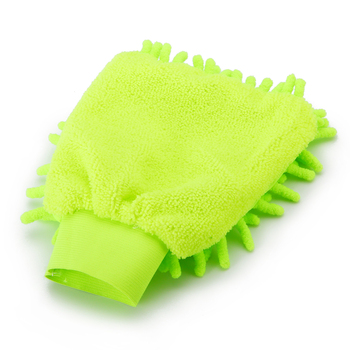 1pc Microfiber Car Wash Mitt Ultrafine Fiber Chenille Wash Glove Soft Mesh Backing No Scratch For Car Wash Cleaning