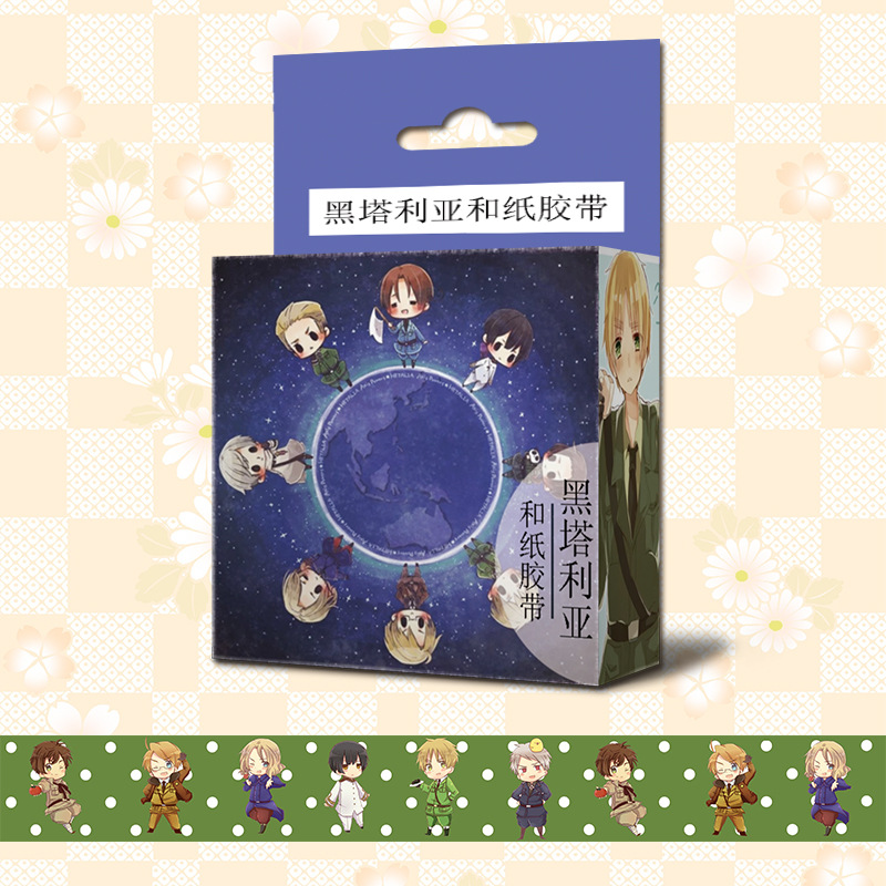 1.5cm*5m Anime Axis Power Hetalia Cartoon Washi Tape Adhesive Tape DIY Scrapbooking Sticker Label Masking Tape