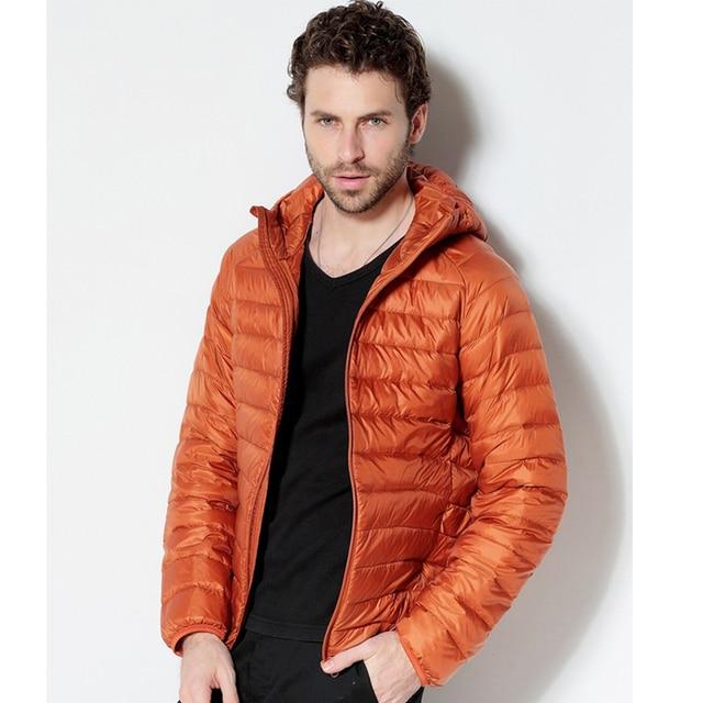 Men White Duck Down Jacket 2020 New Portable Hooded Down Coat Ultralight Men Winter Coat Warm Thermal Down Parkas 5