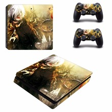 Anime Tokyo Ghouls PS4 Slim Skin Sticker and 2 Controllers PS4 Slim Skins Sticker Vinyl