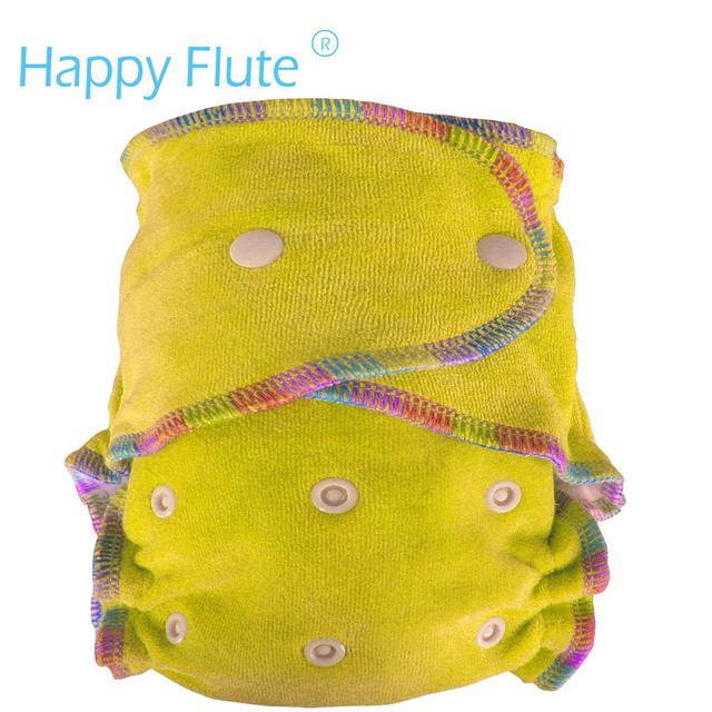 Happyflute os ea2 fralda de pano de bambu veludo equipado, onesize, nenhum Material Sintético para Tocar a pele do bebê, Nascimento até Penico/5-15 kg,