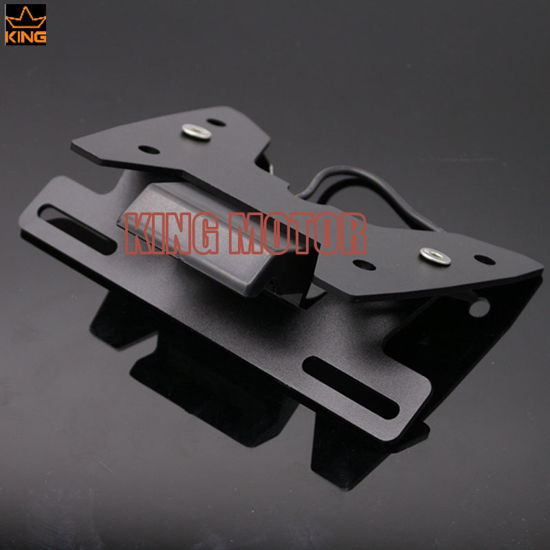 Hot Sale Fender Eliminator Registration License Plate Holder Bracket LED Light For SUZUKI GSXR GSX-R 600/750 2008-2010 K8 K11 for suzuki gsx r600 k8 fender eliminator motorcycle license plate bracket for gsxr750 k8 tail tidy tag rear 2008 2009 2010