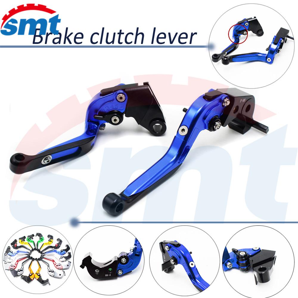 ФОТО new style motorcycle brake lever xj6 foldable extenable brake clutch levers blue For HONDA CB900 Hornet 2002 2003 2004 2005 2006