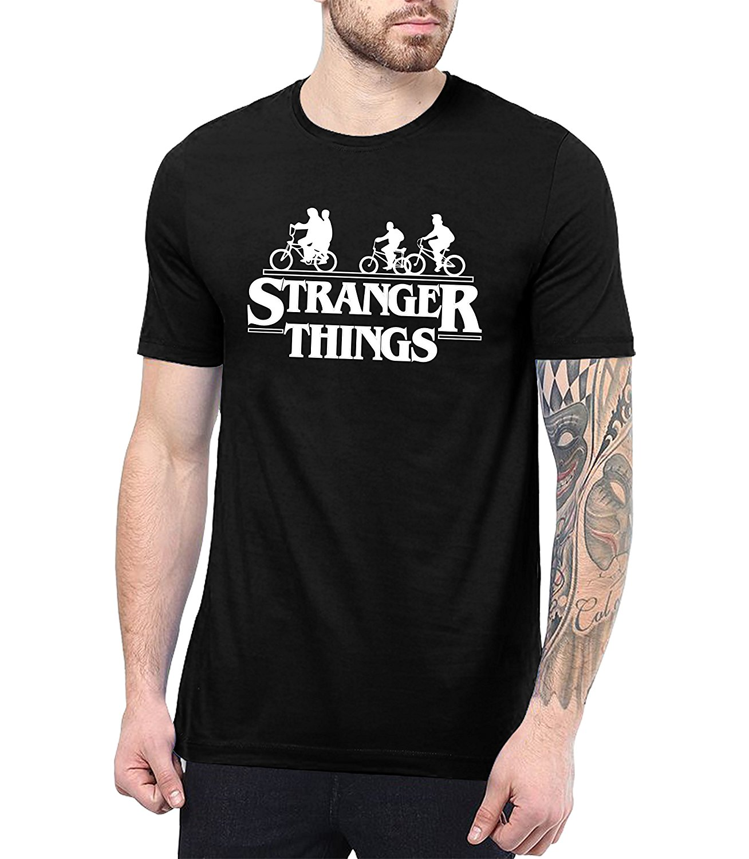 Decrum Stranger Things Team Series T-Shirt - Stranger Things Clothes Merchandise for Men 2018 Brand T Shirt Homme Tees