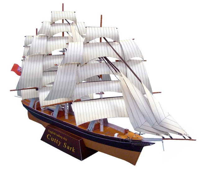 High Simulation Scottish Cutty Sark Galleon 3D Scale Paper Craft Models DIY  Assembled Ship Paper Modeling Toy Top Quality-in Photobooth Props from