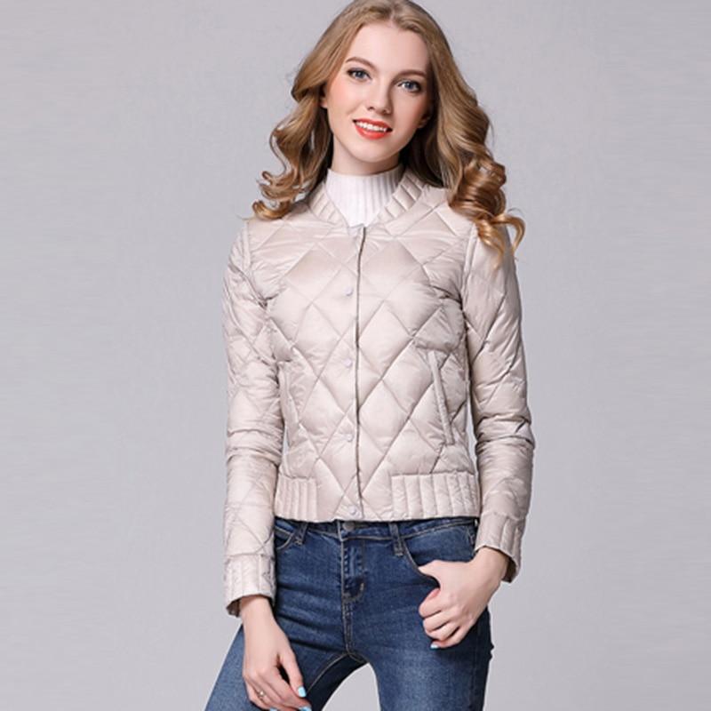 New Spring Women Light Thin   Down     Coats   Short Thin Slim 90% White Duck   Down   Jacket Winter Female Parkas Duck   Down     Coat   RE0220