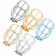 Smuxi Lamp Covers Vintage Steel E27 Bulb Guard Clamp On Metal Lamp Cage Retro Trouble Light Industrial Pendant Lights(China)