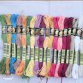 50 цветов, якорь, Похожие DMC, вышивка крестиком, хлопок, нить для вышивания, шпажки, ремесло, сделай сам, два ярлыка, ваш цвет