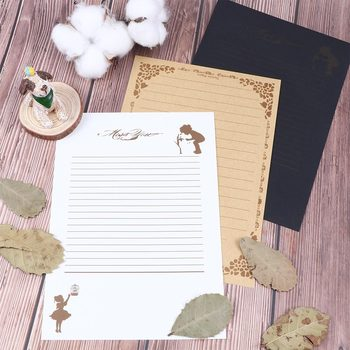 8 Sheets Vintage Design Writing Stationery Paper Pad Note Letter Set 3 Colors Choose Court style