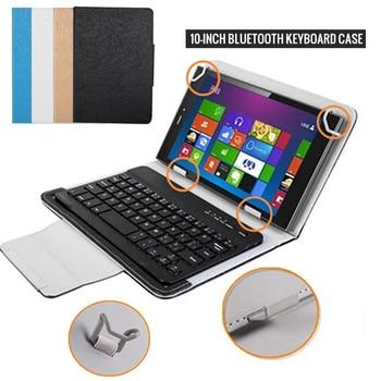 Étui de tablette universel avec clavier Bluetooth Flip étui en cuir pour support pour 9.7 10 10.1 pouces tablette PC pour Android Windows IOS