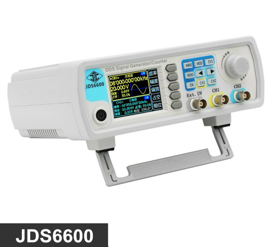High precision digital dual channel DDS function signal generator arbitrary waveform pulse generator 1Hz-100MHz frequency hot selling signal generator rigol dg1022u updated from dg1022 2 channel 25 mhz function waveform signal generator