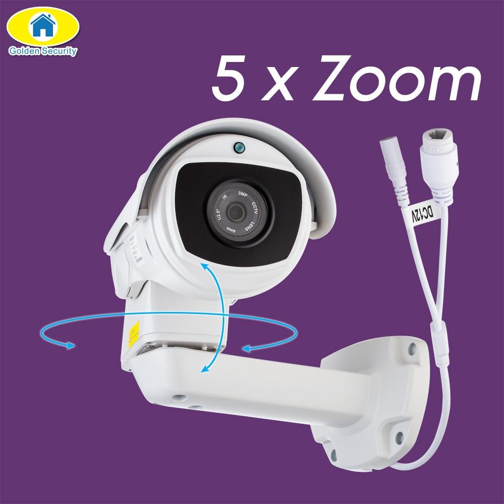 Golden Security 2MP HD Outdoor ONVIF IP PTZ Camera Pan/Tilt 5x Optical Zoom Waterproof 50m IR Night Vision Bullet Cam H.265