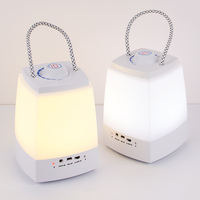 USB Rechargable led bluetooth speaker indoor room bedside lamp/ hung handheld hung lamp night lighting