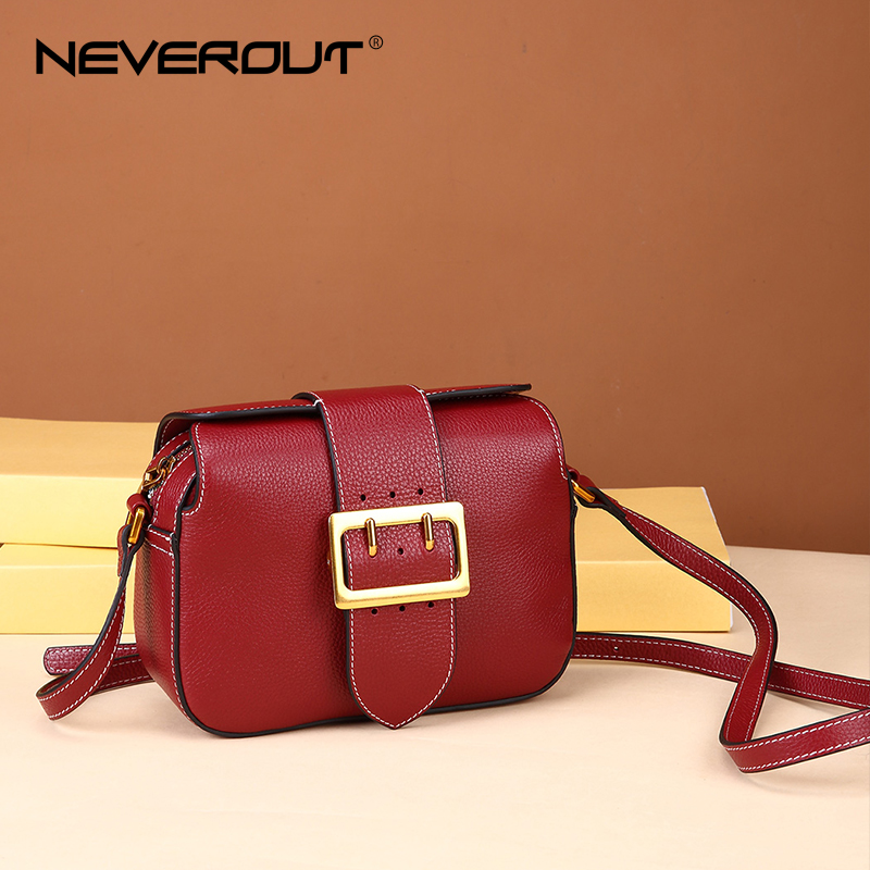 NEVEROUT Ladies Genuine Leather Bags Classic Retro Style Solid Messenger Bag Female Shoulder Sac Crossbody Bags for Women 2018 все цены