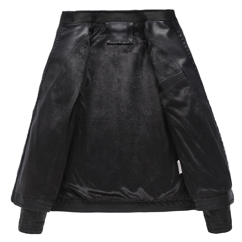 jaqueta de couro lelaki lelaki kulit jaket kulit bulu jaket kulit - Pakaian lelaki - Foto 2