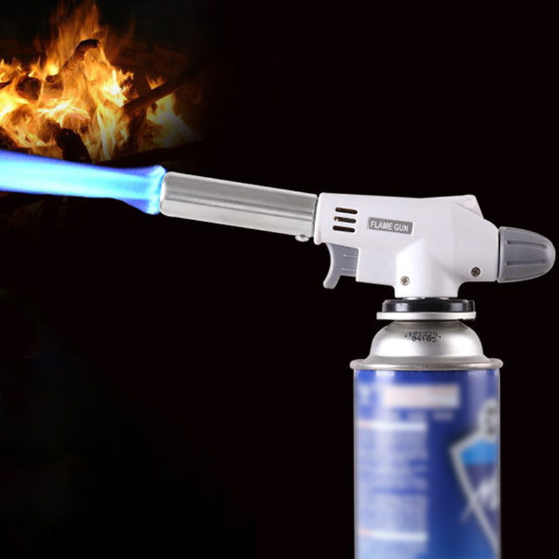 Flamethrower Baking-Burner Blow-Torch Auto-Ignition Butane Gas Camping-Equipment Small