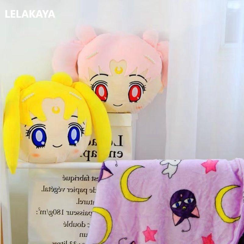 35cm Card Captor Sakura Magic Array Plush Pillow Cartoon Star Printed Sailor Moon Kero Kid Soft Stuffed Doll Round Cushion Toy A Complete Range Of Specifications Plush Pillows Toys & Hobbies