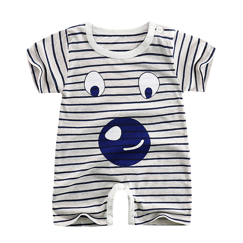 CalaBob Baby Boy   Romper   Summer Short Sleeve Newborn Baby Soccer Clothes Cotton Cartoon Print Baby Girl   Rompers   Toddler Jumpsuit