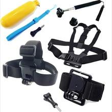 Gopro Accssories Kit Set Head Chest Harness Strap Belt Mount + Floating Bobber Grip For Gopro Go Pro HD Hero 1 2 3 3+ 4