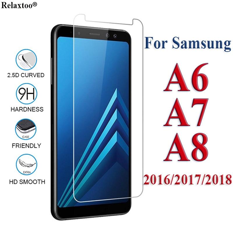 100% Wahr Schutz Glas Auf Samsung Galaxy A7 A6 A8 Plus 2018 2017 2016 Glas Tremp Eine 6 7 8 8a 6a Samsyng Sumsung Galax Gehärtetem Gläser