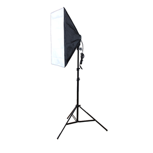 Image 2 - Fotografie Studio Softbox Kit Foto Verlichting Vier bedekte Lamphouder Verlichting + 50*70 cm Softbox + 2 m Light Stand Foto Soft Box