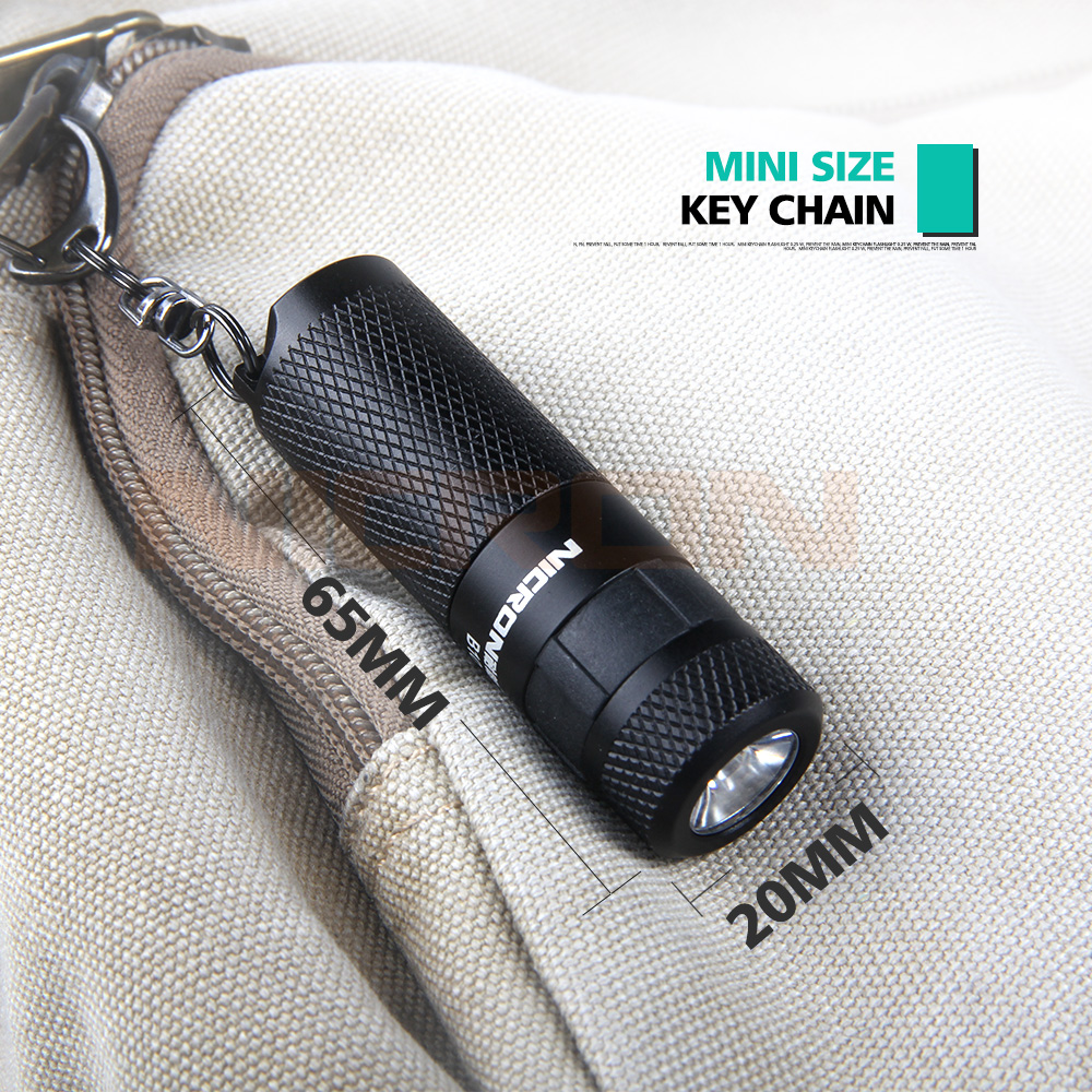 Image 4 - NICRON 3W USB Mini LED Light Waterproof Flashlight Keychain Rechargeable Compact Lamp Torch 3 Modes For Household Outdoor etc-in LED Flashlights from Lights & Lighting