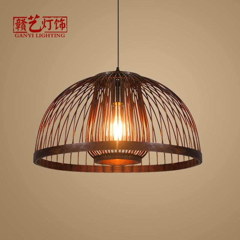 Tea Room, Zen Bamboo Art Lamp Restaurant, Farmhouse Music Restaurant, Antique Bamboo Weaving Lamps And Lanterns
