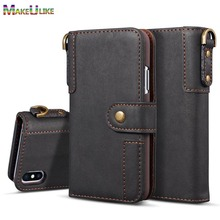 hot deal buy strap wallet case for iphone xs max xr  flip cover pu leather luxury phone bag case for iphone xr case iphone xs max pouch