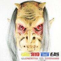 Cadılar bayramı partisi terör maske çubuğu parti malzemeleri halka versiyonu kırmızı gri hayalet korkunç Maske Toptan