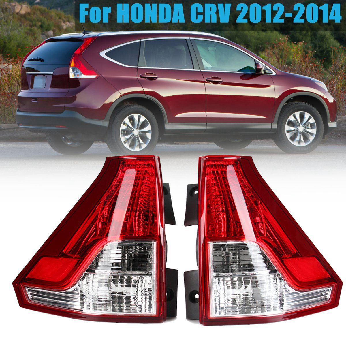 Clear Red Left/Right Tail Rear Bumper Light LED Brake Light Tail Light Lamp for Honda CRV 2012 2013 2014 цена