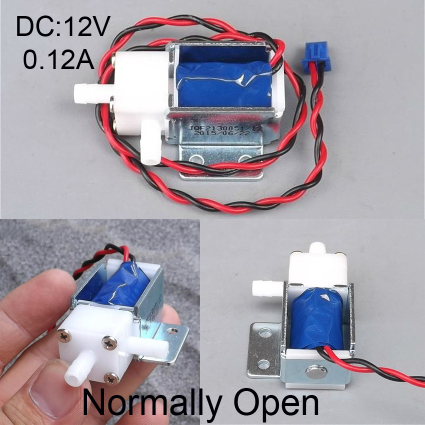 Normally Open Air Water Valve DC12V 120mA Solenoid Valve Mini Electric Valve Discouraged Valve  N/O