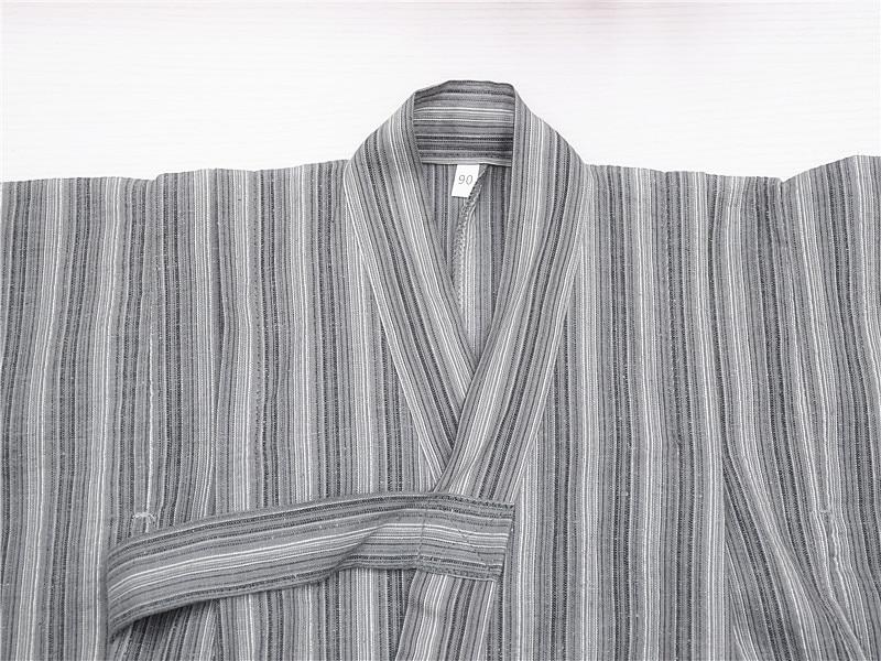 Child Kid Japanese Kimono Yukata Bathrobe Matching Belt Stripe Pajamas Cotton Robe Clothing Long Summer Buy One Give One Robes