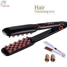 2019 Volumizing Утюг выпрямитель для волос цифровой плоский утюжок для волос с ЖК-дисплей Дисплей выпрямления волос Flat Iron