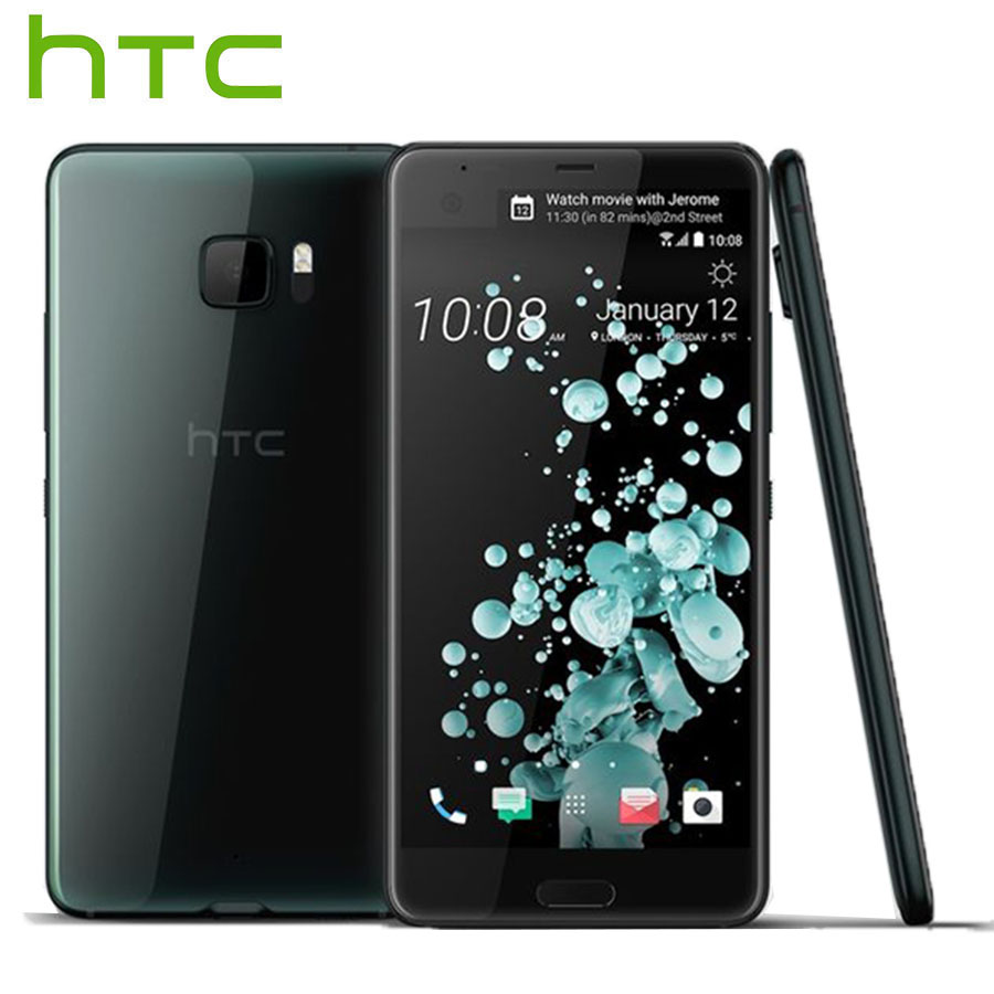 L'UE Version HTC U Ultra 4g LTE Mobile Téléphone Double SIM 4 gb 64 gb Snapdragon821 Quad Core 5.7 2560x1440 DualView Android Téléphone Intelligent