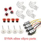 SYMA X8SW X8PRO X8 Pro Original Spare Motor Engine Base Main Gear Propellers Fixed Cover Bushing Kits Parts